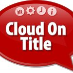 Cloud on title red sign