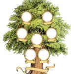 Family Tree template vintage illustration