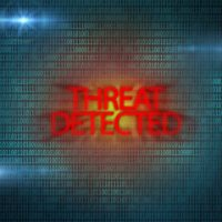 Red threats detected sign
